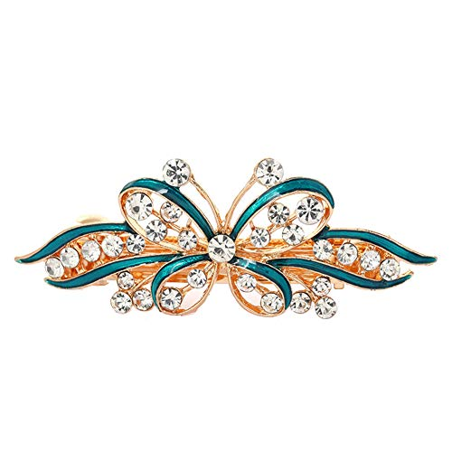 osmanthusFrag Fashion Schmetterling Strass Inlay Lady Hair Clip Haarspange Party Spring Barrette -