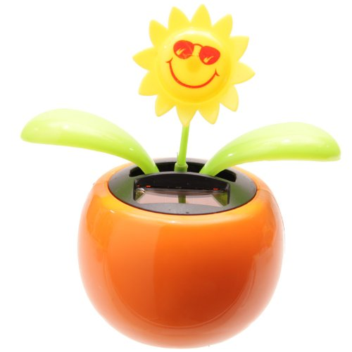 c3f86e2716af62 PK Green Solar Powered Dancing Flower Plant Pot - Flip Flap Sunflower  (Orange) by