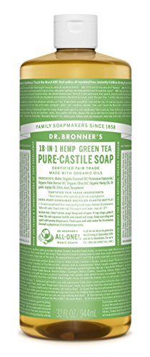 Dr Bronner's 946 ml Organic Green Tea Castile Liquid Soap