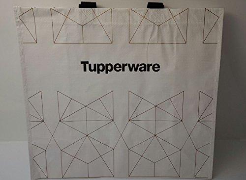 TUPPERWARE Tasche Einkaufstasche bis 25 kg belastbar weiß schwarz XXL Shopper Schwimmbad