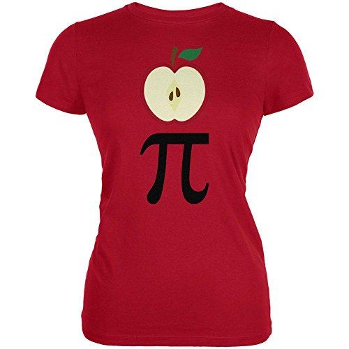 Math Pi Kostüm Apple Tag Juniors Soft-T-Shirt Rot SM (Apple-halloween-kostüme)