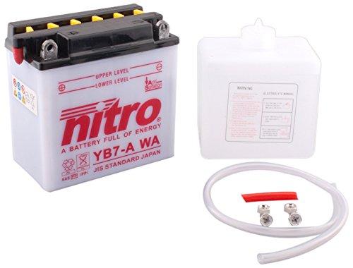 NITRO YB7 A-N- WA-Batteria Moto aperto con acido Pack