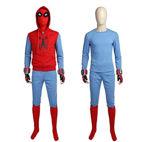 nihiug Spiderman Heroes Return Spiderman Dutch Brothers Derselbe Absatz Hoodie Cos Coat Coats (Cosplay Spiderman Kostüm Für Verkauf)