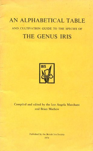 Alphabetical Table and Cultivation Guide to the Species of the Genus Iris
