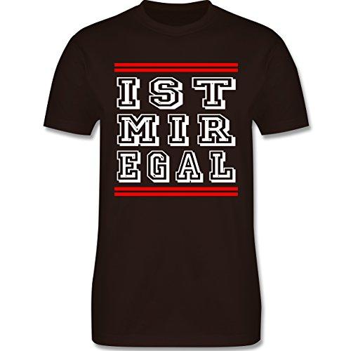 Statement Shirts - IST MIR EGAL - Herren Premium T-Shirt Braun