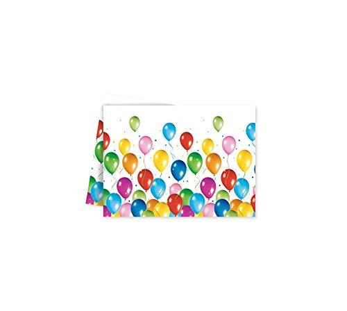 Procos-Balloons Fiesta (120x 180cm) Tischdecke Kunststoff 120x 180cm, mehrfarbig, One Size, 9727