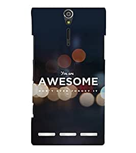printtech Cool Quotes Success Back Case Cover for Sony Xperia S Lt26i