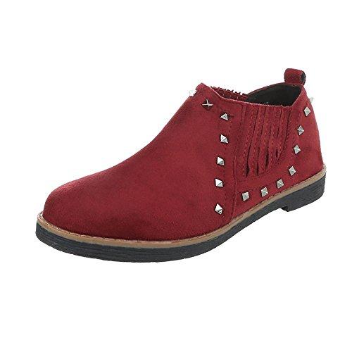 Bourgogne 2330 Femme Chaussures Mocassins Bloc Design Slippers Ital pHwwPqA0