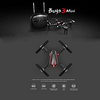Momola MJX Bug3 B3 mini Remote Control Drone with Brushless Motor RC Aircraft Quadcopter Drone Helicopter Flying Toy Can Load the C5007 Camera