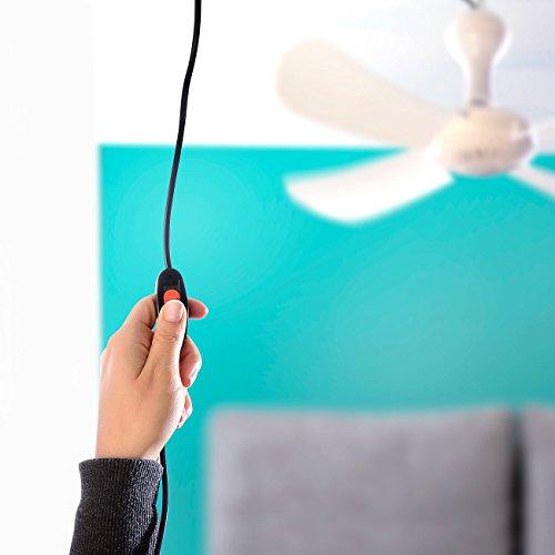 Sichler Haushaltsgeräte Mobiler Decken-Ventilator VT-151.D mit Aufhänger, 53 cm, 12 W -