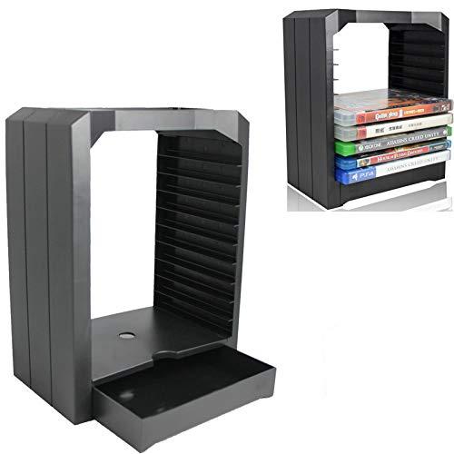 Xigeapg ps4 ps 4 universal game storage vetrina tower 10 cd supporto giochi per 4 ps4 slim pro one accessori 360