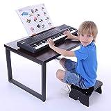 MRKE Keyboard Kinder, 61 Tasten Multifunktional Elektronische Orgel Musikinstrument Klavier Spielzeug mit Mikrofon für Kinder Anfänger