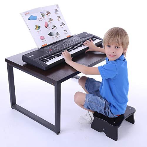 MRKE Keyboard Kinder, 61 Tasten Multifunktional Elektronische Orgel Musikinstrument Klavier Spielzeug mit Mikrofon für Kinder Anfänger (61 Tasten Keyboard Klavier)