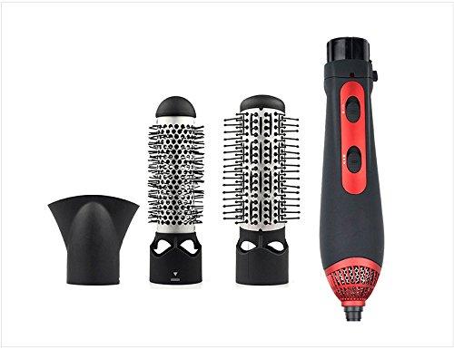 Peigne électrique multifonctionnel de bigoudi de cheveux, 3 dans 1 combinaison de coiffure réglée de sécheuse de cheveux
