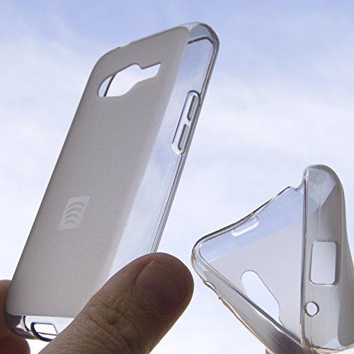 CUSTODIA PROTEZIONE IN SILICONE GEL trasparente OPACO ANTI URTO SEMIRIGIDO cover case per Samsung Galaxy Ace NXT SM-G313h e Trend 2 Lite Sm-G318