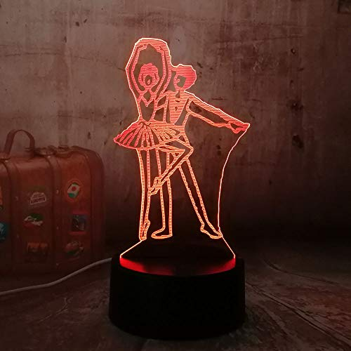 Schönes geschenk led beleuchtung tänzerin mädchen und jungen romantische acryl 3d rgb neuheit nachtlichter usb schreibtischlampe zimmer home decor