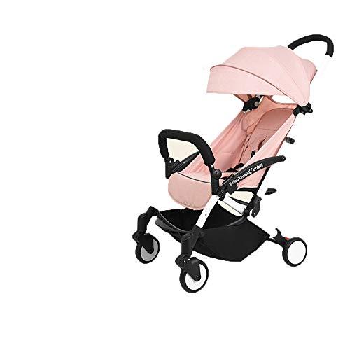 DYFAR Leichte Kinderwagen Kinderwagen Kinderwagen Compact Fold-Technologie für einfachen Transport und Lagerung UPF 50+ ausziehbare Kapuze Discovery Prime, Pink