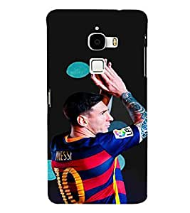 For LeTv Le Max :: LeEco Le Max man, footbollar, black background, sports man, sports Designer Printed High Quality Smooth Matte Protective Mobile Case Back Pouch Cover by APEX