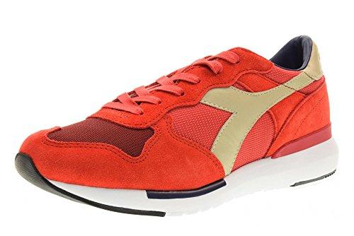 Sneaker Diadora DIADORA hombre bajas zapatillas de deporte 01 201.171864 C6689 TRIDENTE EVO talla 40.5 Rojo