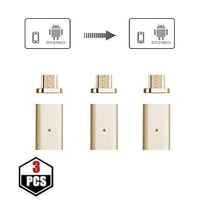 netdot tressé Câble de charge USB magnétique avec 1connecteur Lightning et 1mirco-usb connecteur pour appareil Android et iPhone
