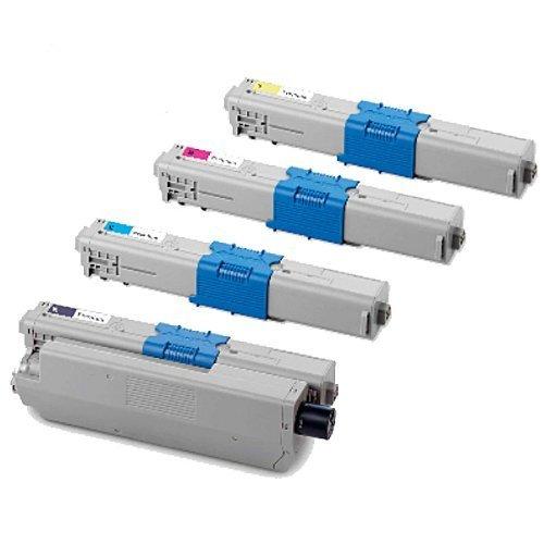 Preisvergleich Produktbild Kompatible Tonerkartuschen für OKI MC-351DN MC-352DN MC-361DN MC-362DN MC-561DN MC-562DN - Toner Set (alle 4 Farben) Black, Cyan, Magenta, Yellow