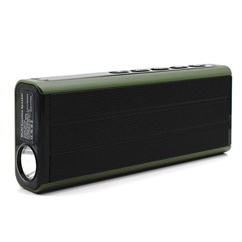 Foto de UrChoiceLtd® 2017 C4 Potente A320, Archeer 10W Altavoz Bluetooth Audio 2.1 con subwoofer Speaker Home estéreo 3-driver de potencia diseño sólido de Bamboo para soporte Micro SD Card TF para S