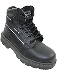Impact - Chaussures De Protection Homme Noir En Cuir Noir, Couleur Noir, Taille 40 Eu