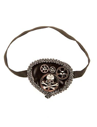 Steampunk Kostüm Damen Deiters - Deiters Augenklappe Steampunk mit Totenkopf