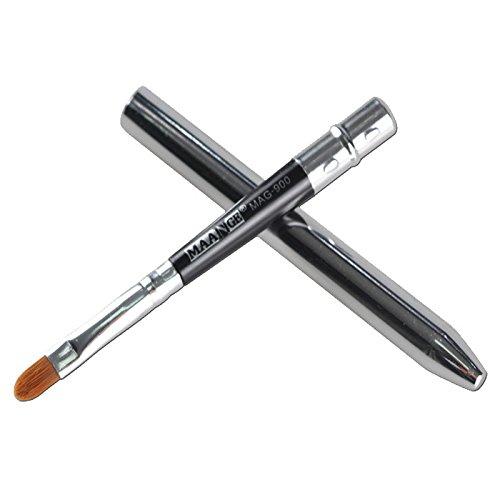 Eye Liner Pinceau Contour Eyeliner pour les Yeux Qualité Supérieure Végan - Application précise et facile du Gel Eye Liner (argent)
