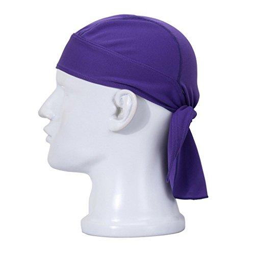 Ninjia unisex copricapo-multifunzionale headwear pirati cappello quick dry passamontagna per attività all'aperto,viola