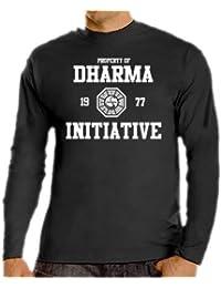 Lost T-Shirt Dharma Logo Slim Fit S-XXL Various Colours