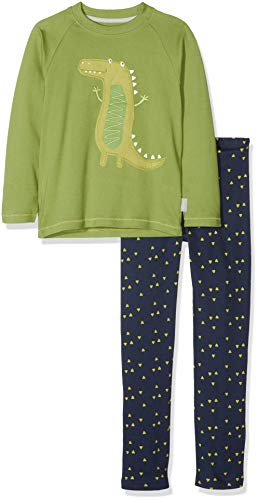 Sigikid Jungen Pyjama, Mini Zweiteiliger Schlafanzug, Mehrfarbig (Peridot 346), 86
