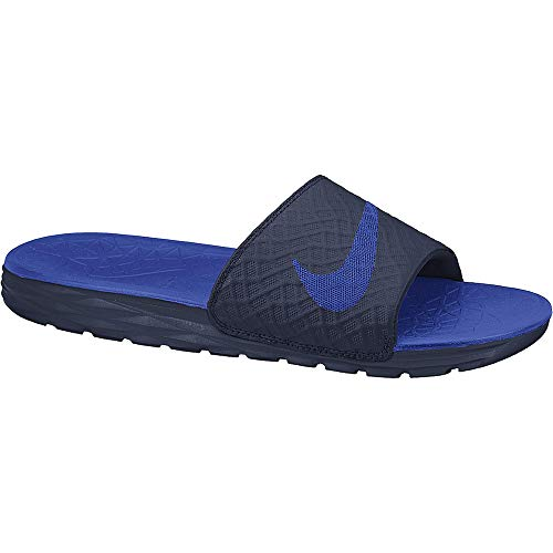 Nike Benassi Solarsoft, Herren Pantoletten, Blau - Azul (Midnight Navy / Lyon Blue) - Größe: 48 1/2