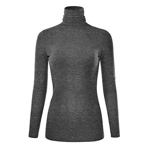 Bluelucon Damen Langarm Rundhalsausschnitt Sweatshirt T Shirt Weit Tunika Damen Pullover Langarmshirts Damen Mode Herbst ()