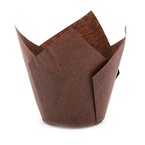 Tulip - Juego de 200 tazas para hornear (tamaño grande) marrón