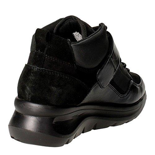 Fornarina PIFVH9546WVA0000 Sneakers Femme Cuir/nylon Noir Noir