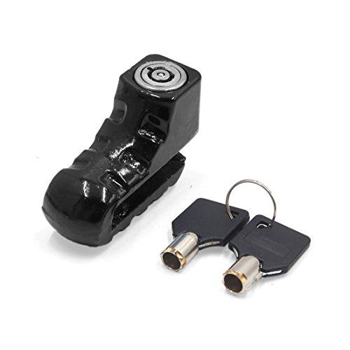 sourcing map Roues Scooter noir Disque frein sécurité Lock 2 clé pour Moto