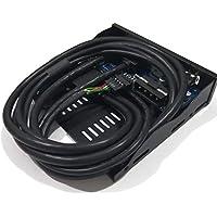New 2 Port USB 3.0 + 2 Port USB 2.0 HUB Expansion 3.5'' Floppy Bay Front Panel Digital Hot
