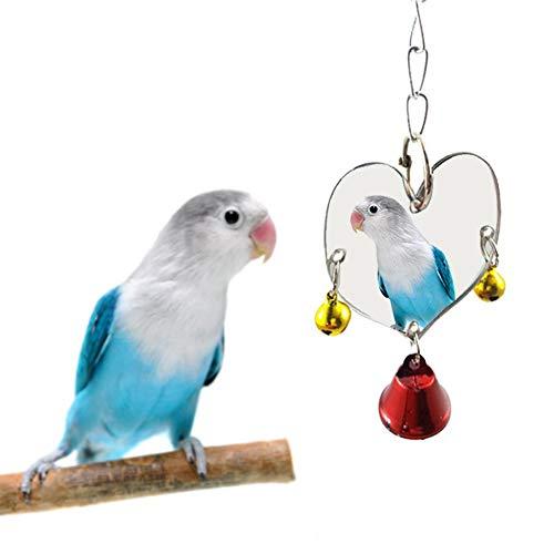 Soundwinds - giocattolo per uccelli con specchio, campanella e altalena, da gabbia