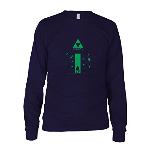 Legend - Herren Langarm T-Shirt, Größe: XL, (Triforce Zelda Helden Of Kostüme Legend)