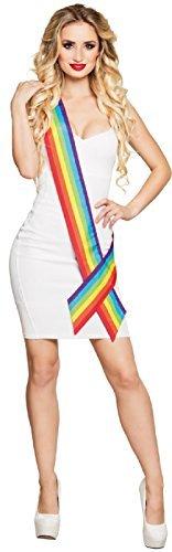 Damen Herren Rainbow Pride LGBT Karneval Festival Mardi Gras SASH BANNER Kostüm Verkleidung Zubehör