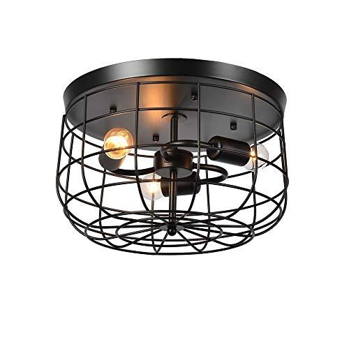 Moliay 3-luces retro Industrial Metal la jaula luz de techo de montaje...