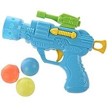 TOOGOO(R) Juguete Pistola de Plastico Verde Bolas de Colores Surtidos para Ninos