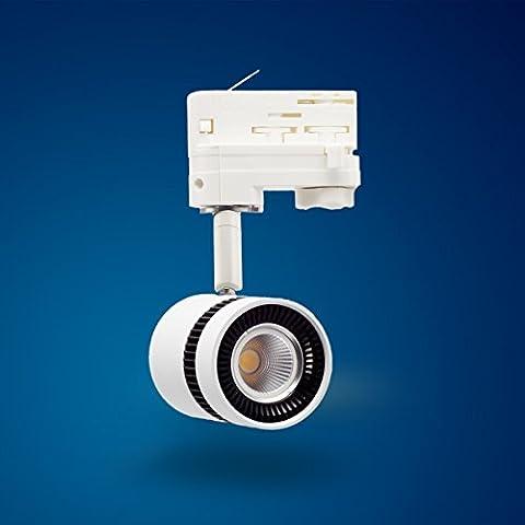 Mextronic 12W Tageslicht weiss led 3 phasen strahler für Schienensystem Schienen Strahler Schienen Leuchte