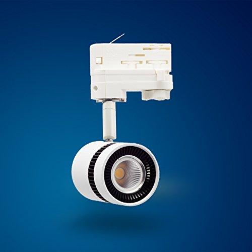 Mextronic 8 W colore bianco luce del giorno led 3 fasi faretto per sistema ferroviario (Sistema Ferroviario)
