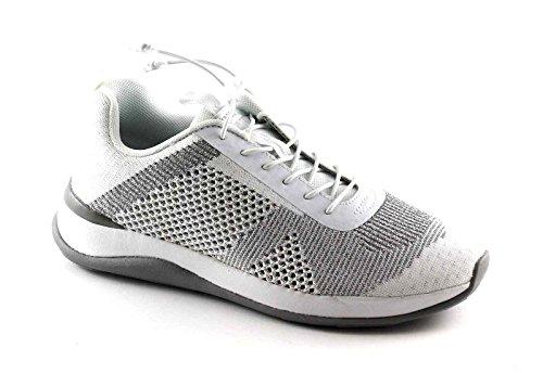 GRUNLAND Jude SC2718 Bianco Argento Scarpe Sneakers Donna Memory Laccio Elasticizzato Bianco