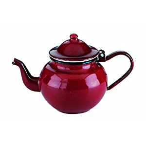 IBILI Teapot Roja 0,5 l of Enamelled Steel in red, 10 x 10 x 20 cm