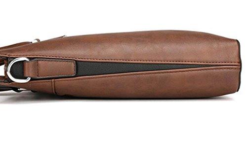 Borse Da Uomo In Pelle Business Bags Computer Crossing Spalla Scivolata Cartella Incrociata Brown