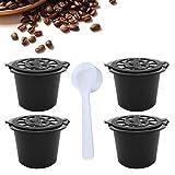 Capsules de Café Rechargeables Dosettes de Café Réutilisables Compatible avec Machine Nespresso