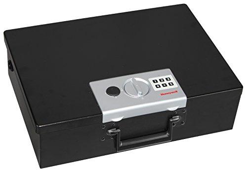 Honeywell 6110 - Caja fuerte pequeña resistente al fuego para documentos, 14 l, cierre digital, paredes...